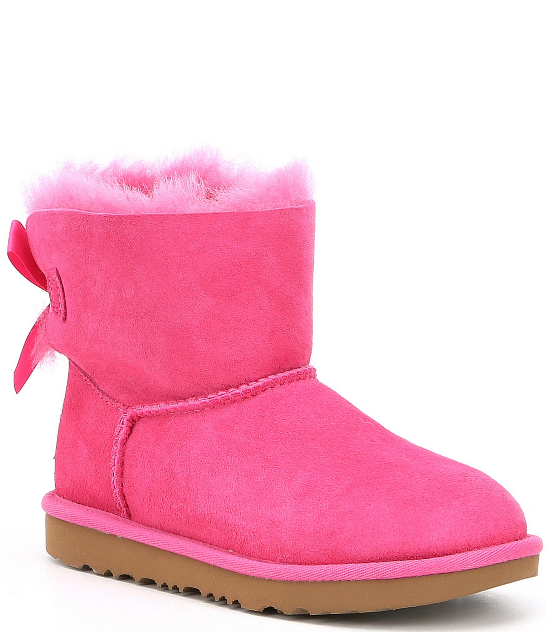 black uggs with pink bows