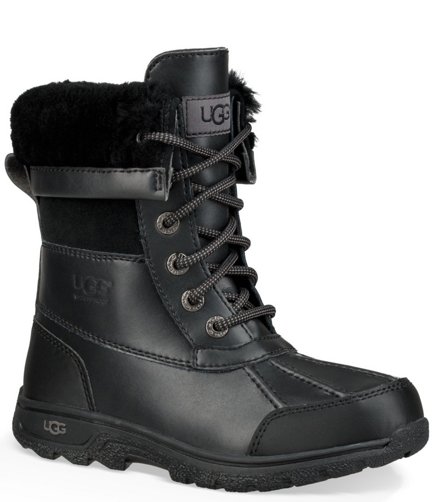 38bffab351f UGG® Kid's Butte II Waterproof and Leather Winter Boot