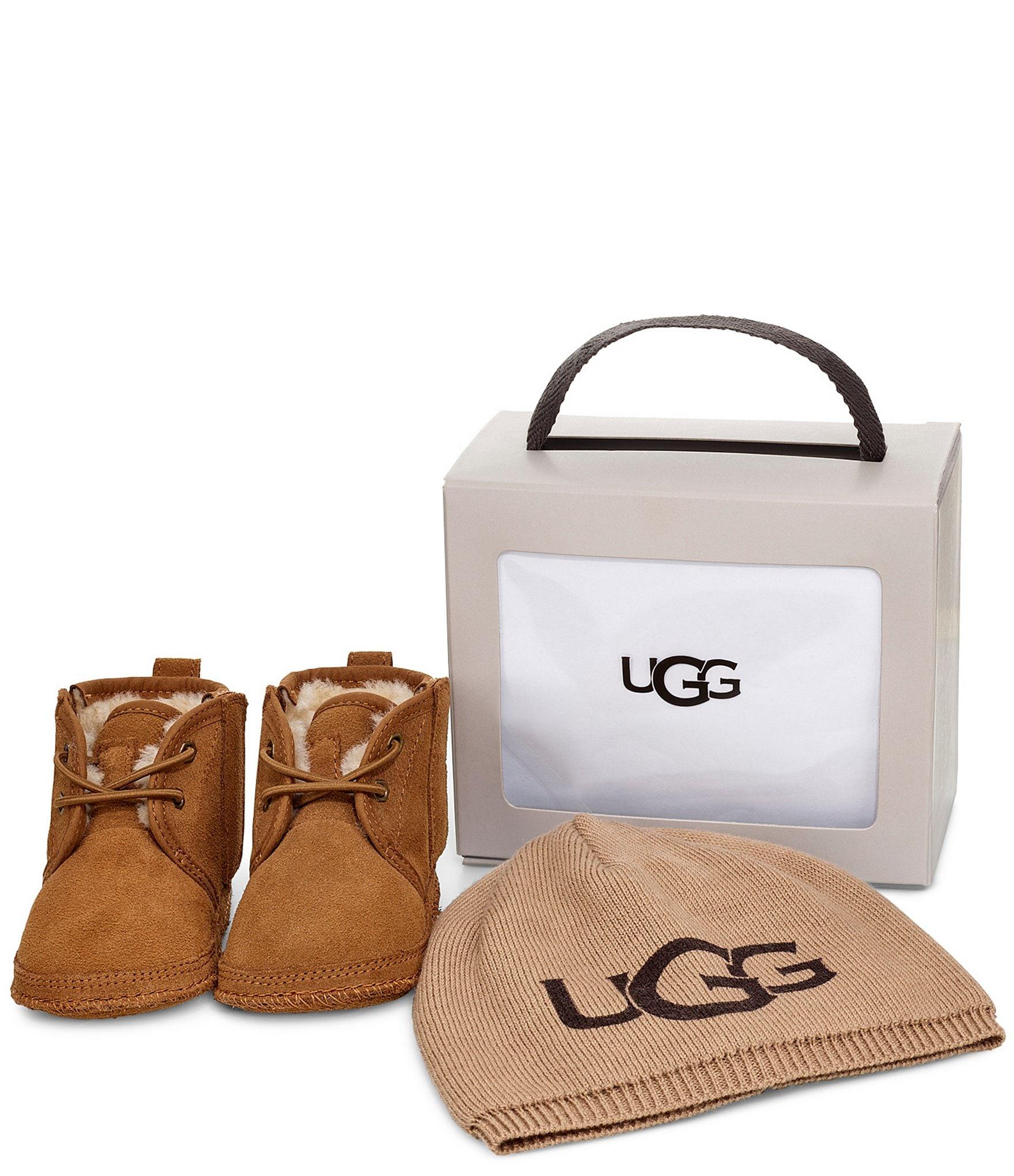 590691c1691 UGG Kids' Neumel and UGG Beanie Crib Shoe Gift Set