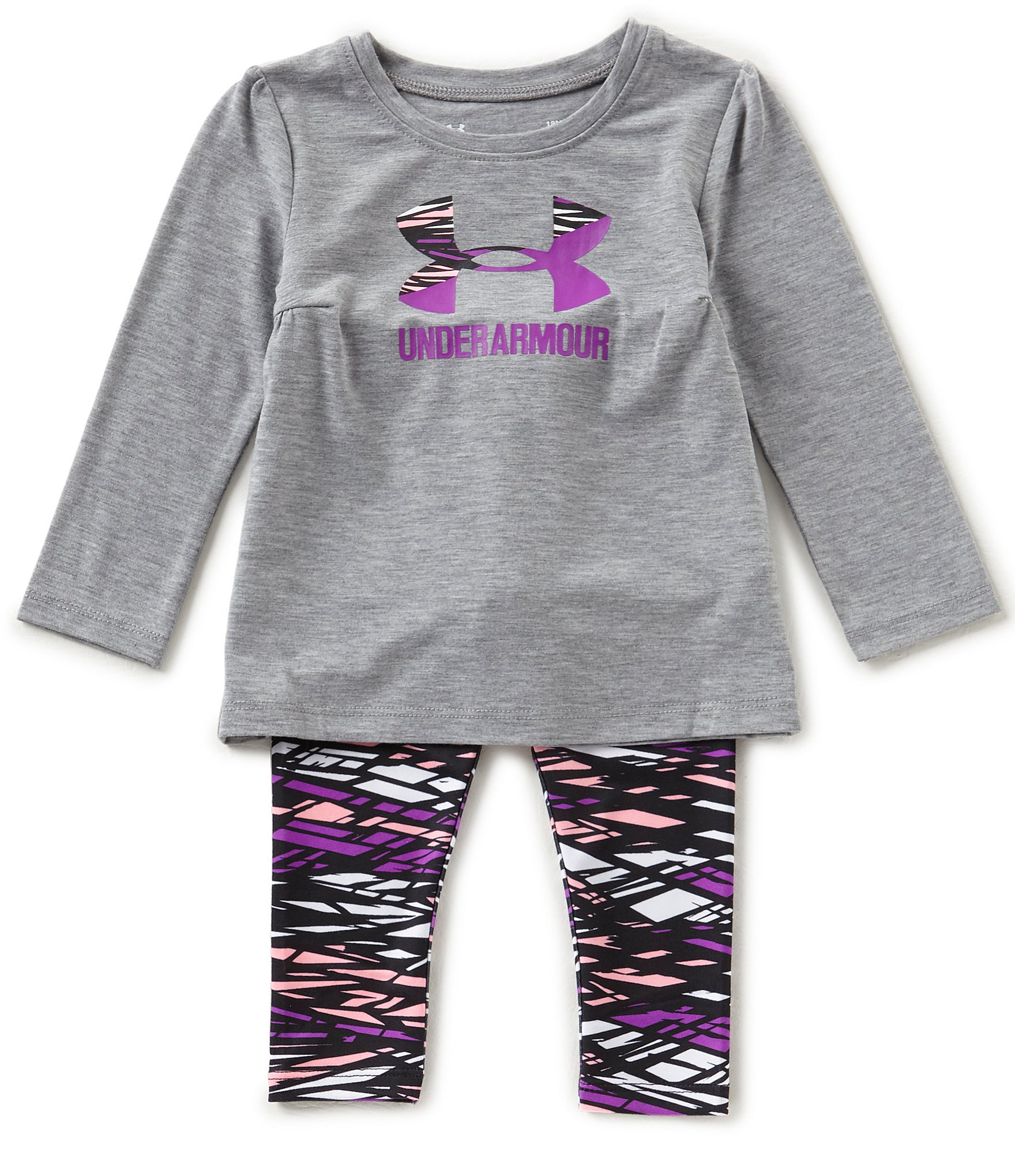 Under Armour Baby Girls 12 24 Months Icon Tee & Printed