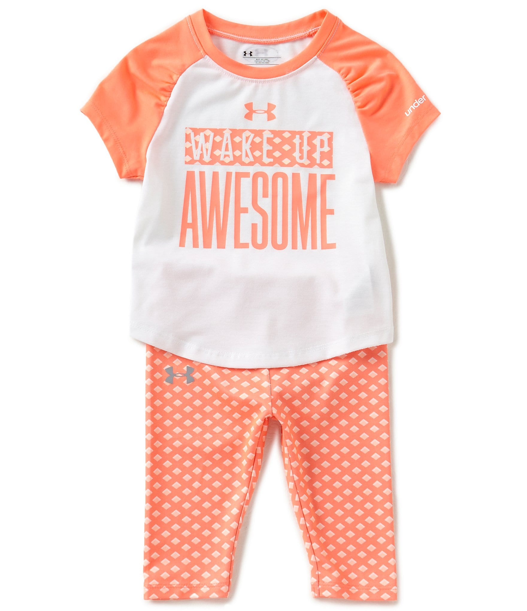 Under Armour Baby Girls 12-24 Months Wake Up Awesome ...