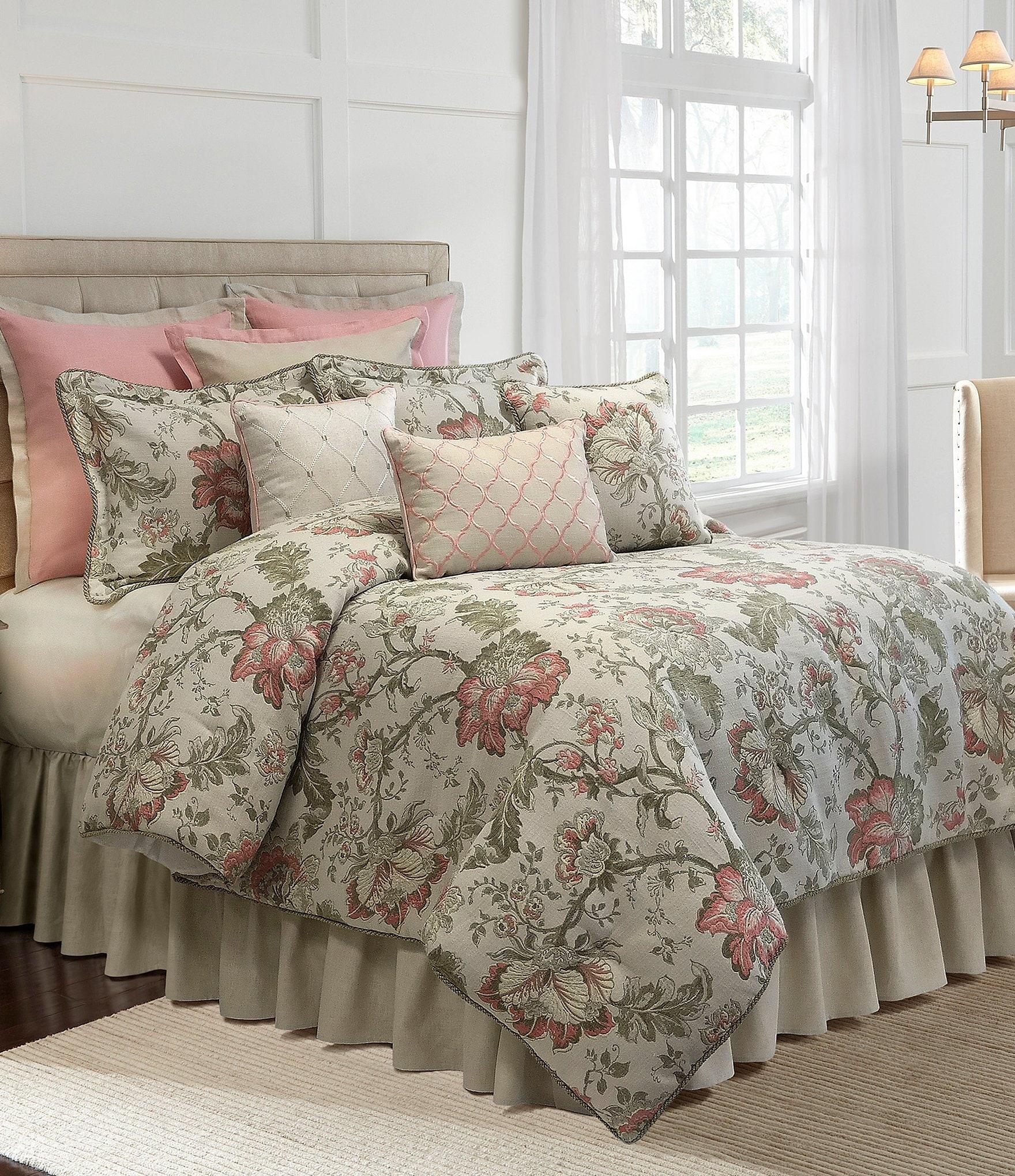 Veratex Rosario Floral Jacquard Comforter Set Dillards