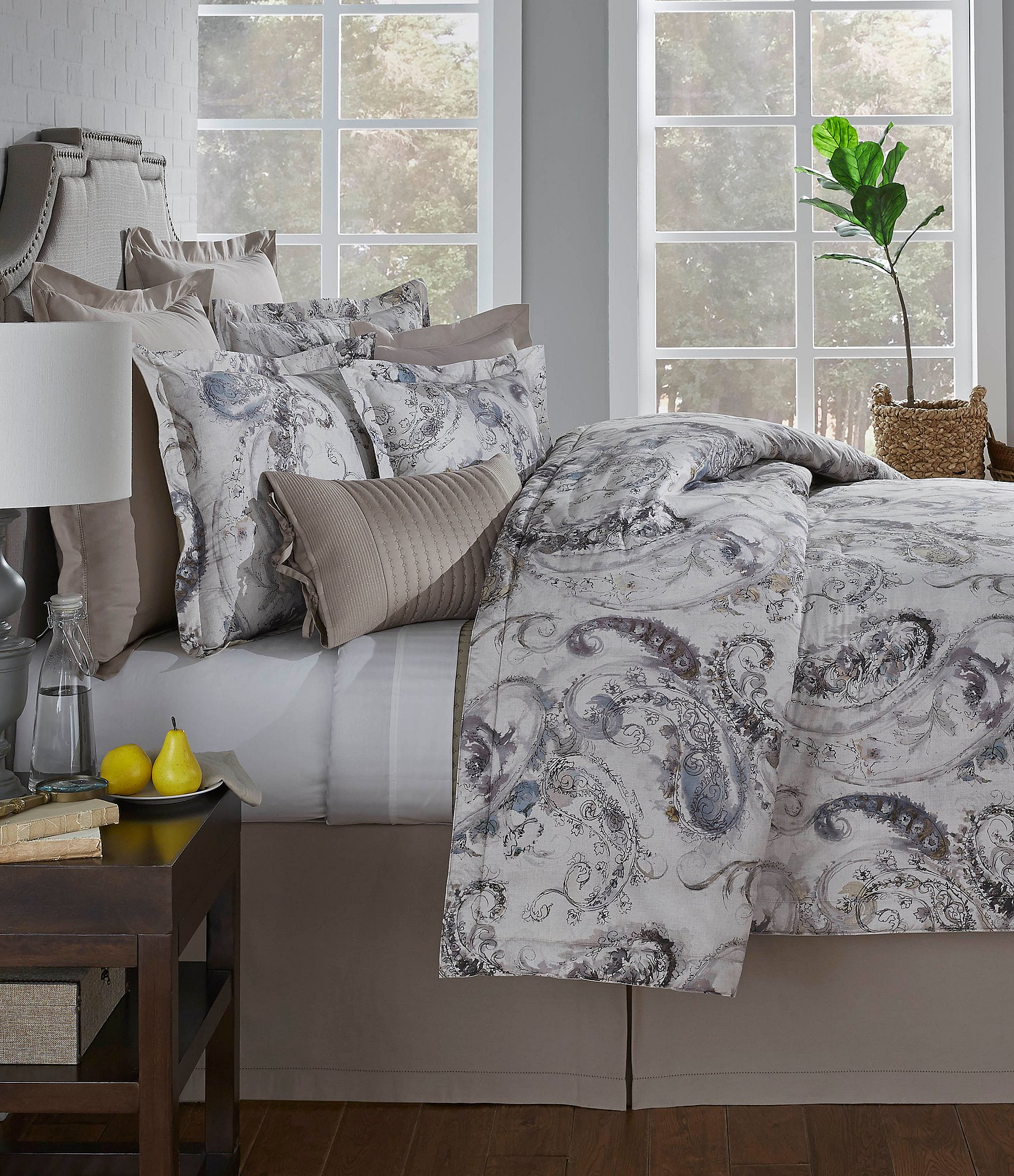 Villa By Noble Excellence Amadeo Paisley Percale Comforter Mini Set Dillards