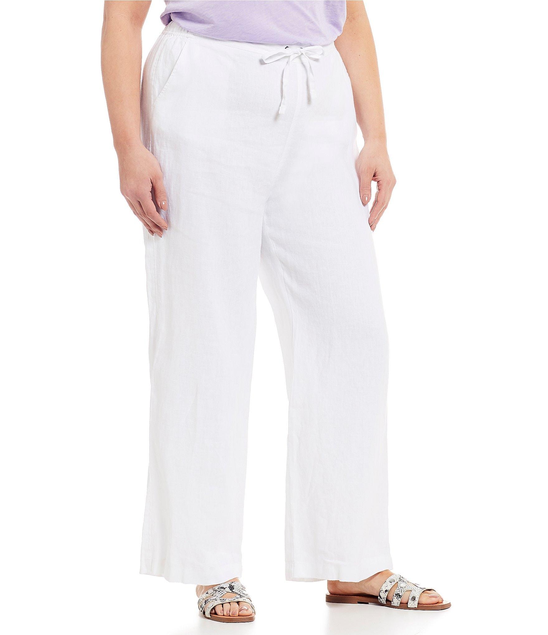 Vince Camuto Plus Size Wide Leg Linen Pants