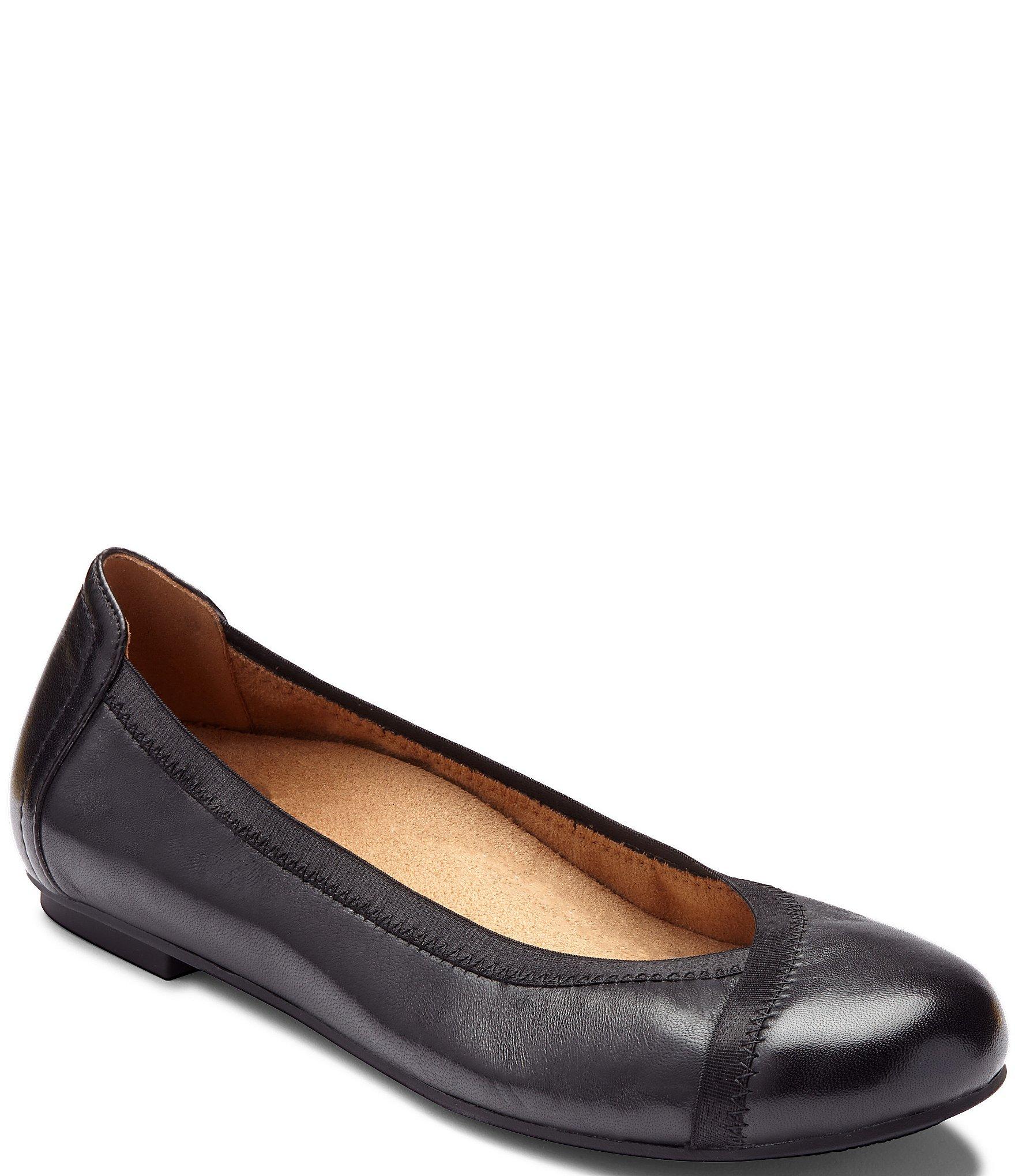 751d584d76d Vionic Caroll Leather Ballet Flats
