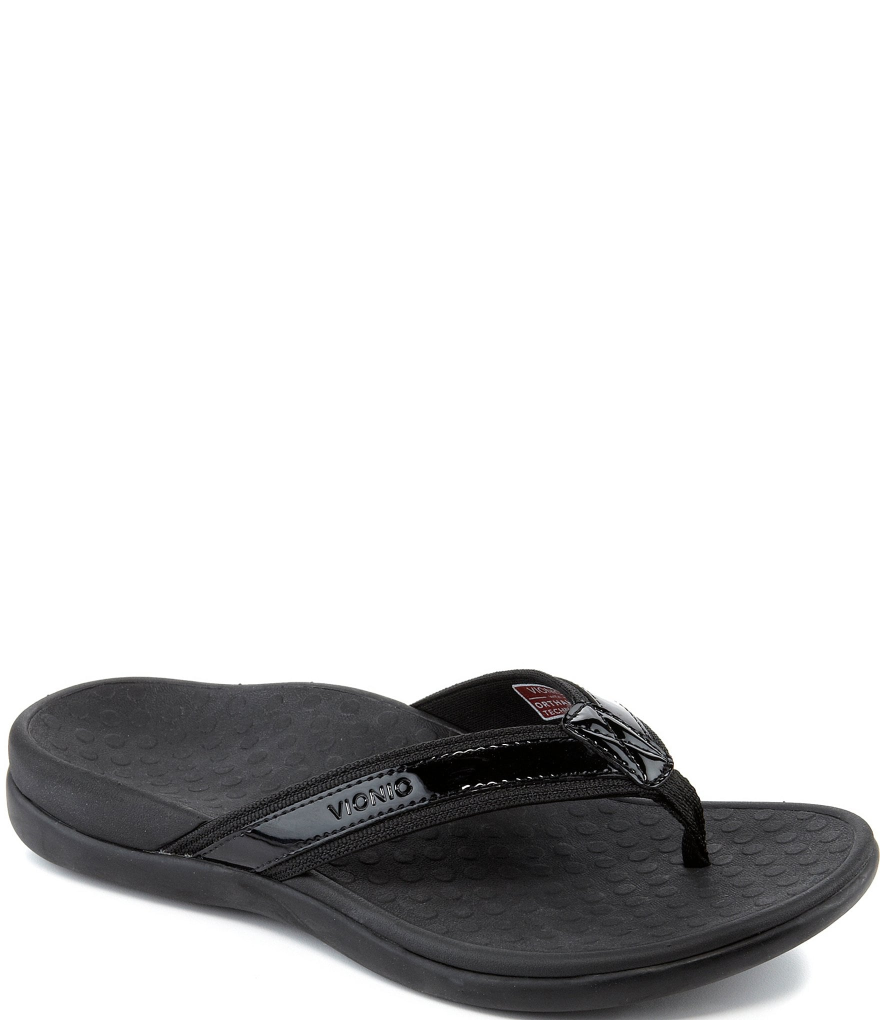 b96541d8c731 Vionic Tide II Leather Flip-Flops