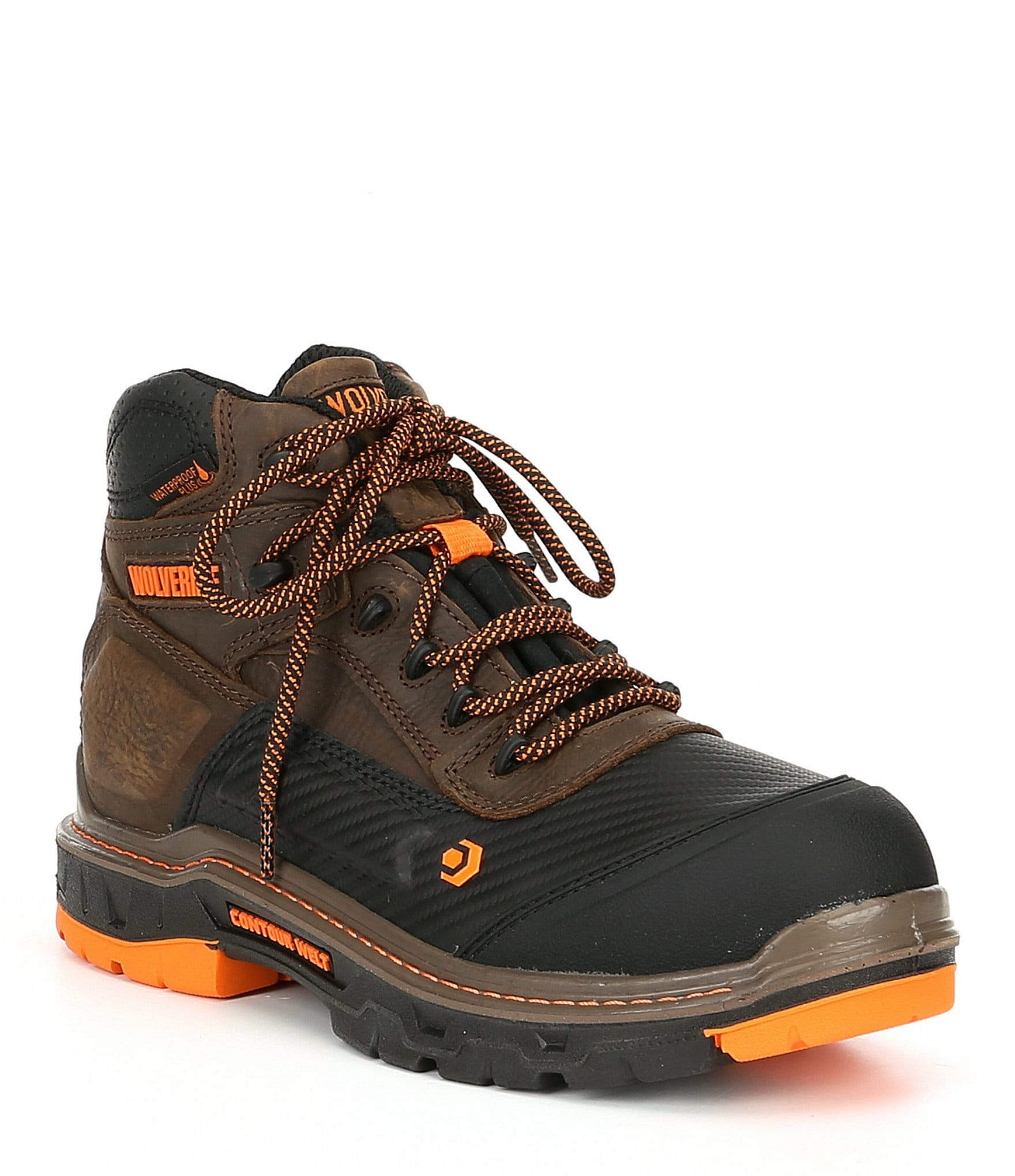 e3a9f941158 Wolverine Men's Overpass Mid 6#double; Composite Toe Waterproof Slip  Resistant Work Boot